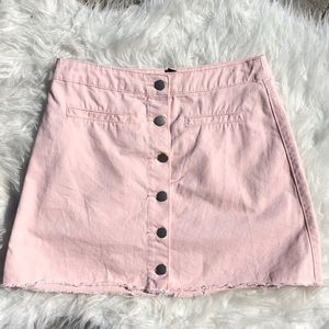 baby pink jean skirt🌙
